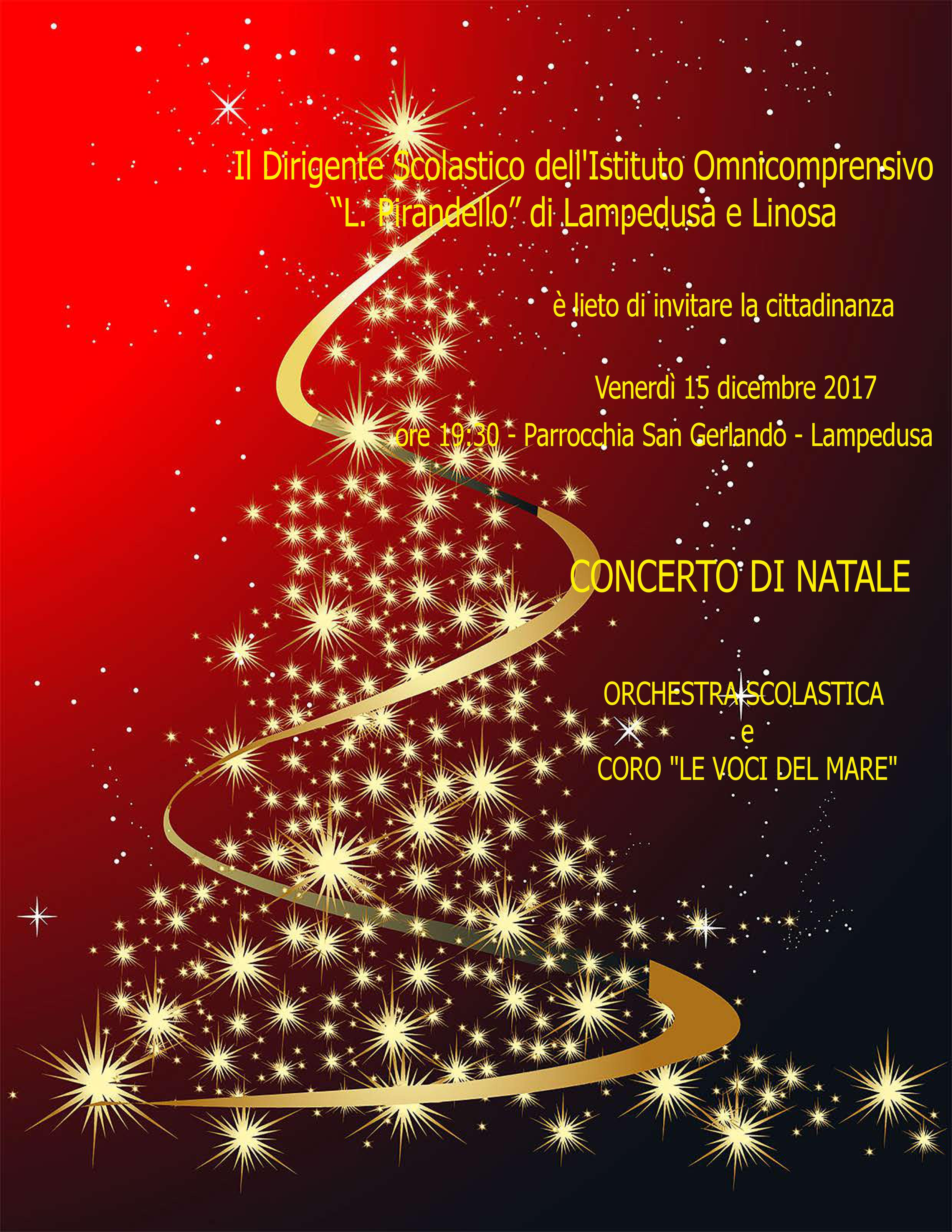 Concerto Di Natale.Concerto Di Natale Istituto Omnicomprensivo Luigi Pirandello