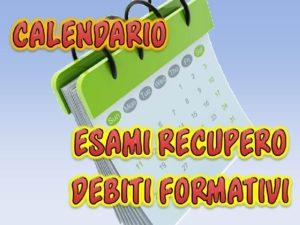Calendario Recupero Debito Formativo in Lingua Inglese